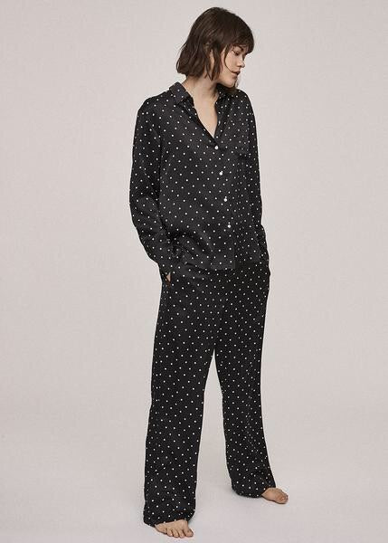 MINI POLKA SILK PYJAMA BOTTOM