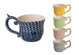 Miranda Berrow Hand-Painted Large Dash Patterned Mugs