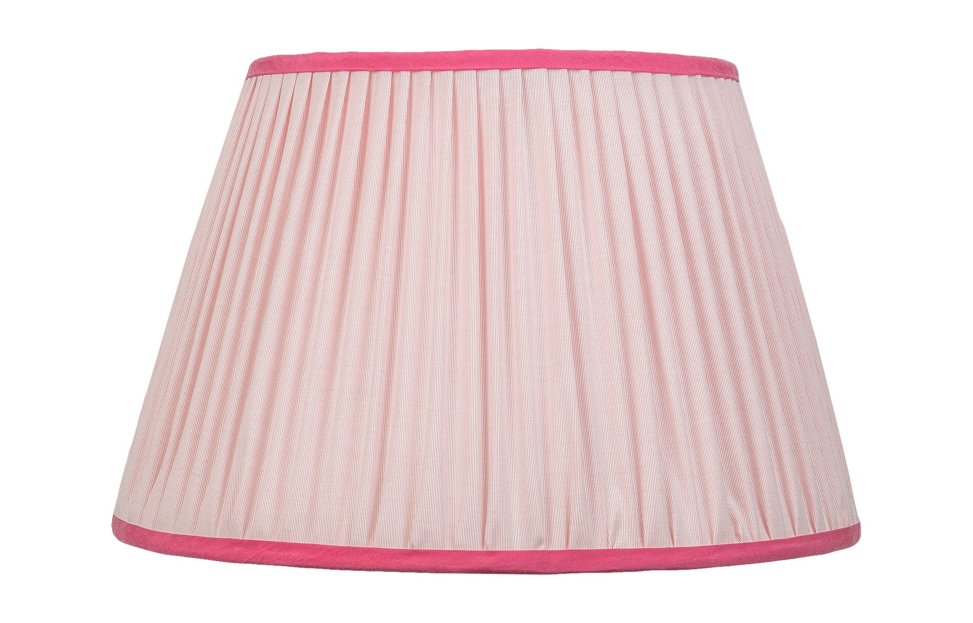 "Handmade Pale Pink 14"" Silk-Lined Lampshade"