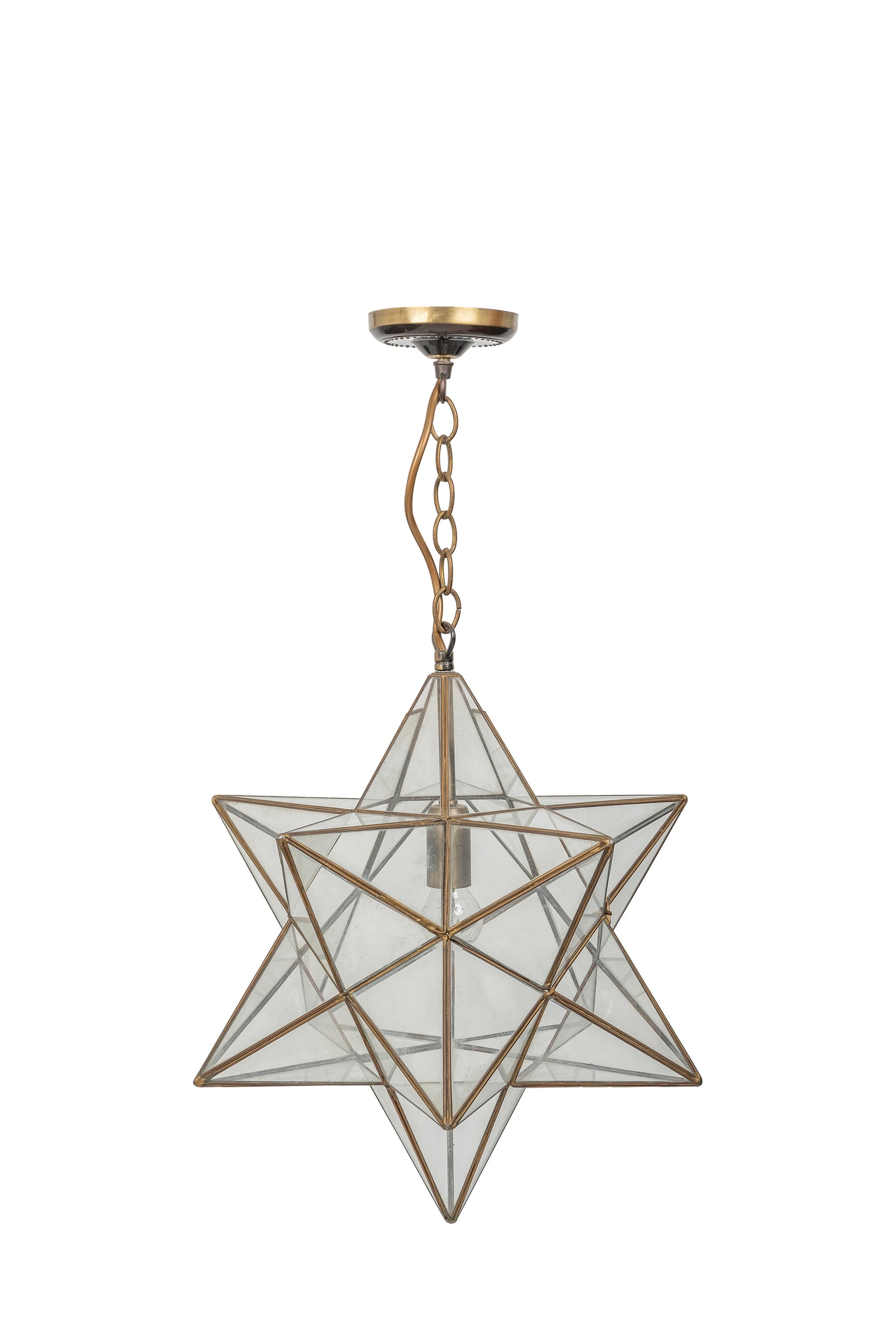 Vintage Star Glass Pendant Light