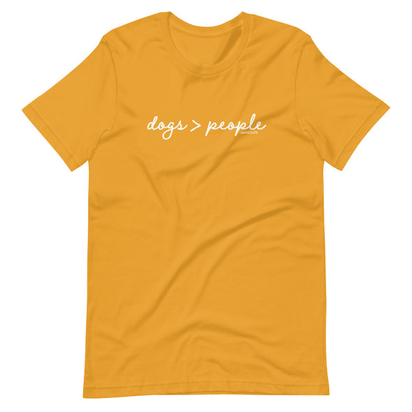 Dogs > People Unisex T-Shirt