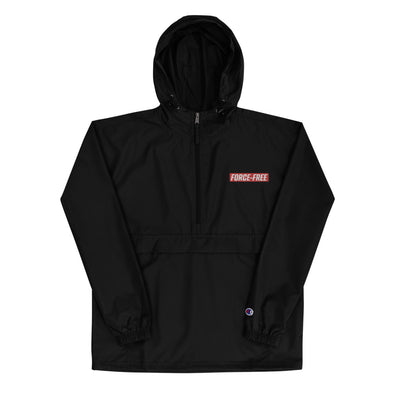 Red FF Embroidered Champion Packable Jacket