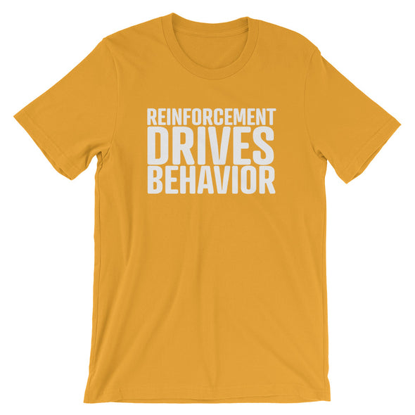 Reinforcement Drives Behavior Unisex T-Shirt