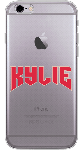 KYLIE Red Phone Case (Soft Transparent)