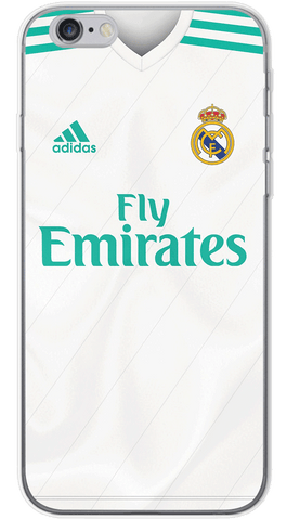 Real Madrid Home 2017/18 Phone Case (Soft Transparent)