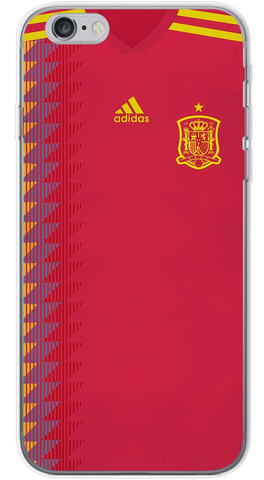 Spain World Cup 2018 Phone Case (Soft Transparent)