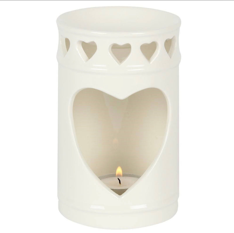 Tall Heart wax warmer.