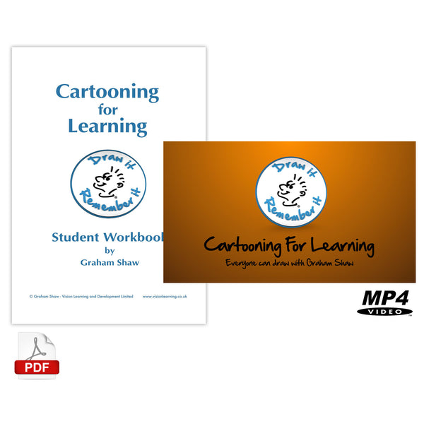 Cartooning for Learning Video and Workbook Package