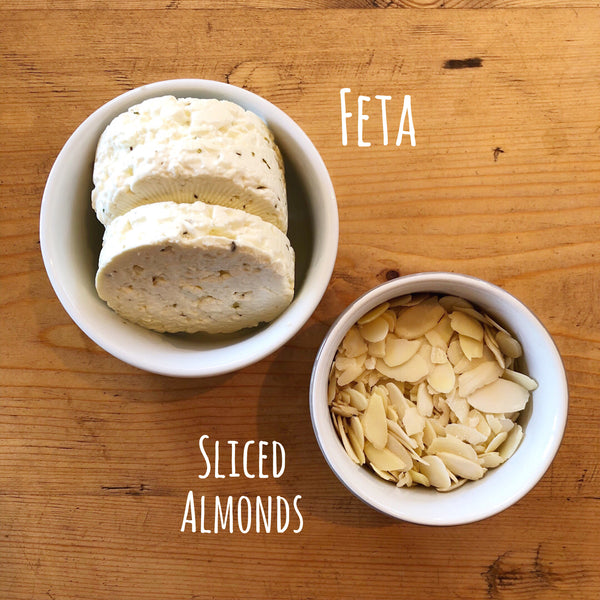 Feta and Sliced Almonds