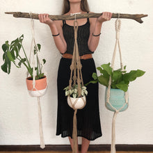 Blume Plant Hanger made with natural rope, jute twine and chunky rope