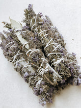 Lavender, Rosemary and Bay leaf Smudge Stick with natural cotton rope