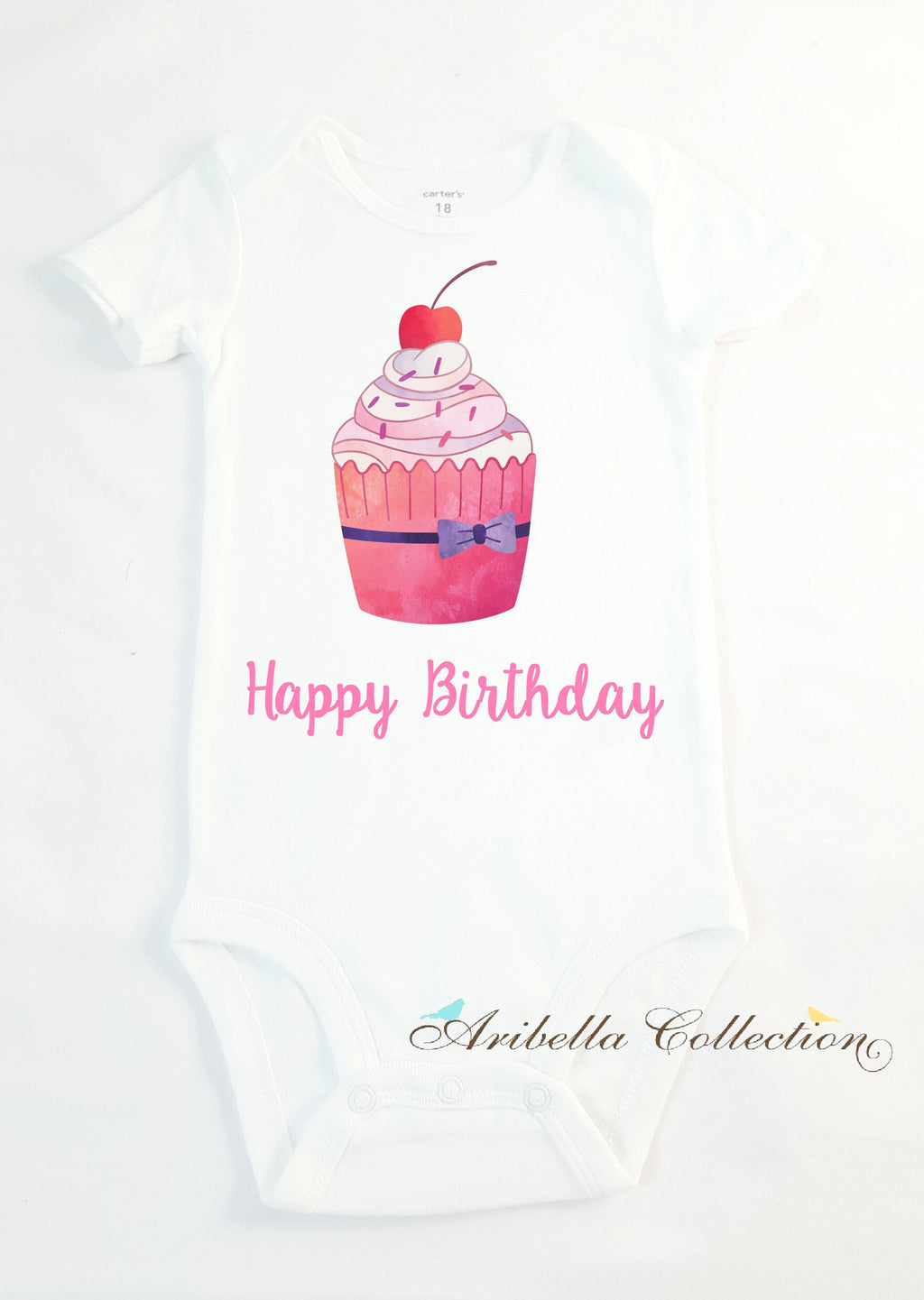 Cupcake Personalized Bodysuit or T-shirt - Aribella Collection