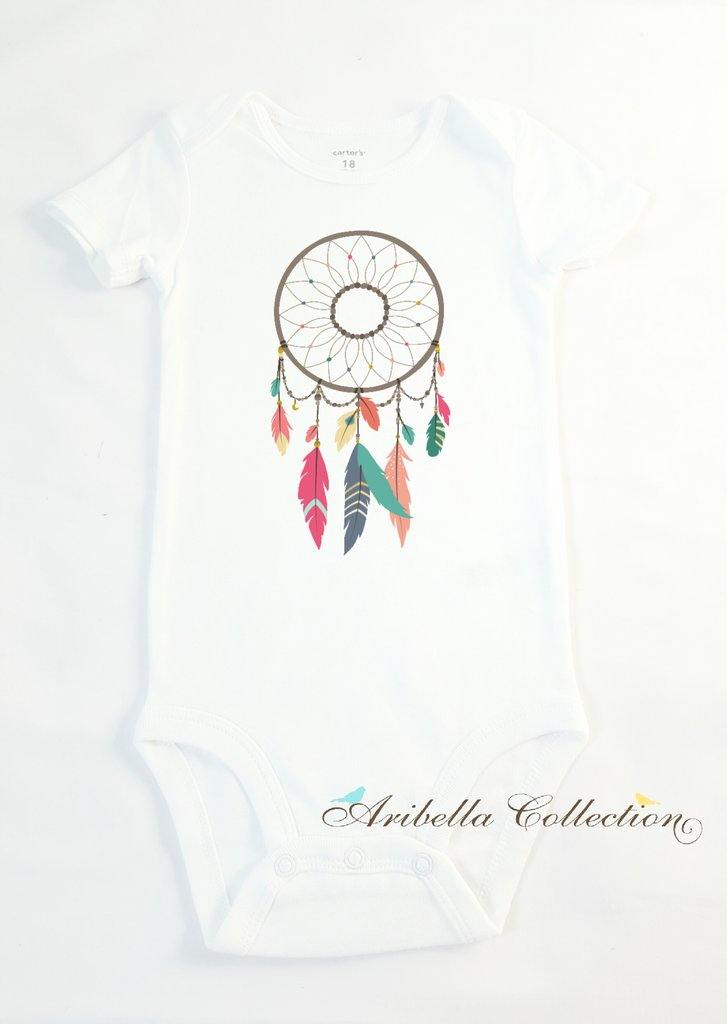 Dream Catcher Personalized Bodysuit or T-shirt - Aribella Collection