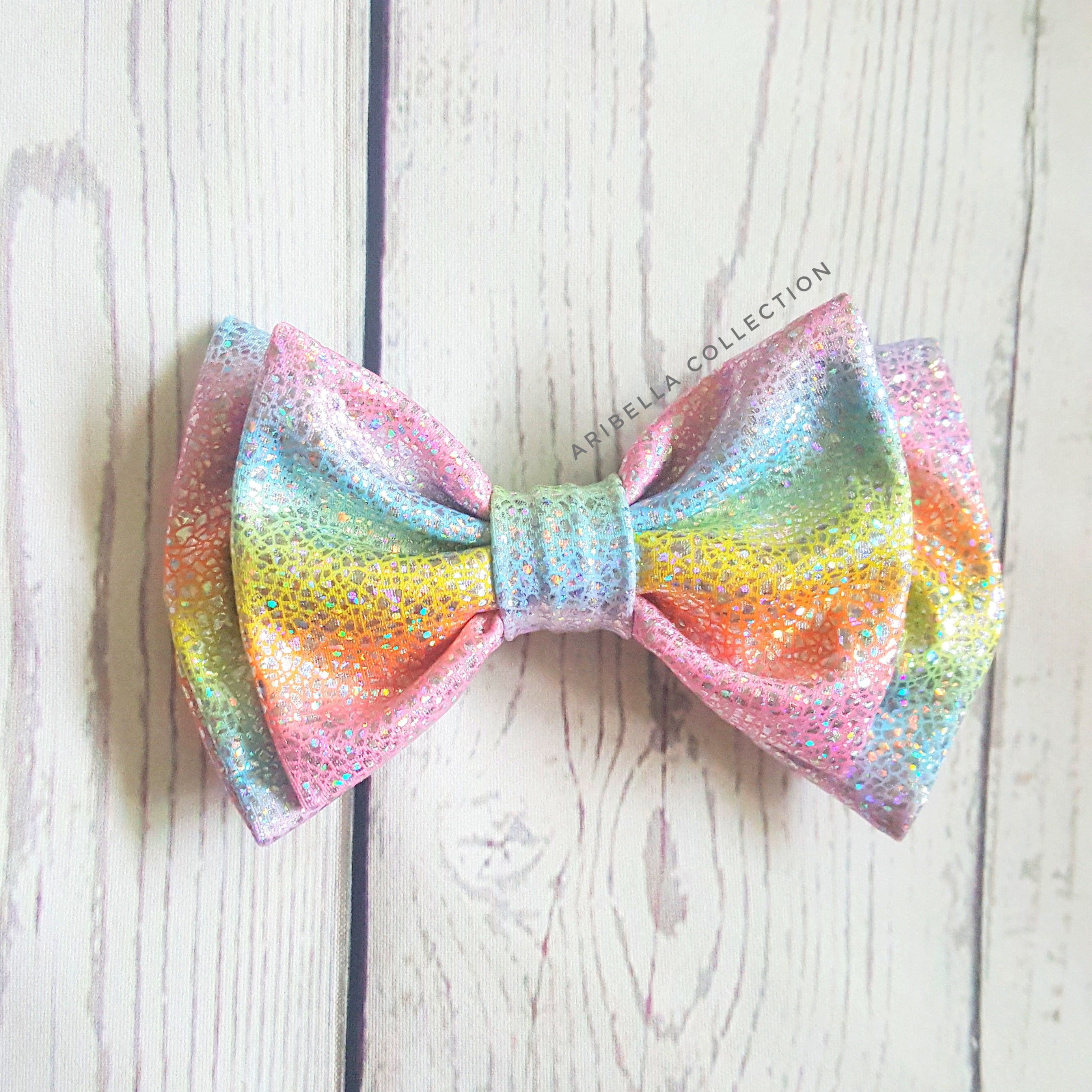 Unicorn Hair Clip Bow - Aribella Collection