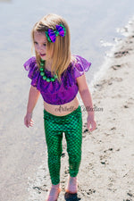 Mermaid Leggings - Emerald Green - Aribella Collection