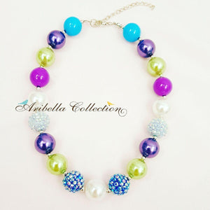 Bubblegum Chunky Necklace - Purple - Aribella Collection