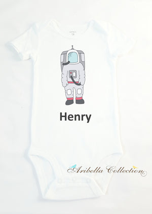 Astronaut Personalized Bodysuit or T-shirt - Aribella Collection