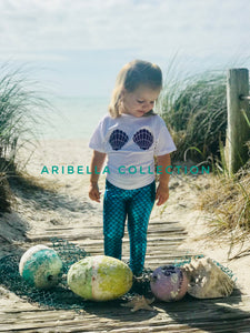Mermaid Glitter Sea Shells Bodysuit or T-shirt - Aribella Collection