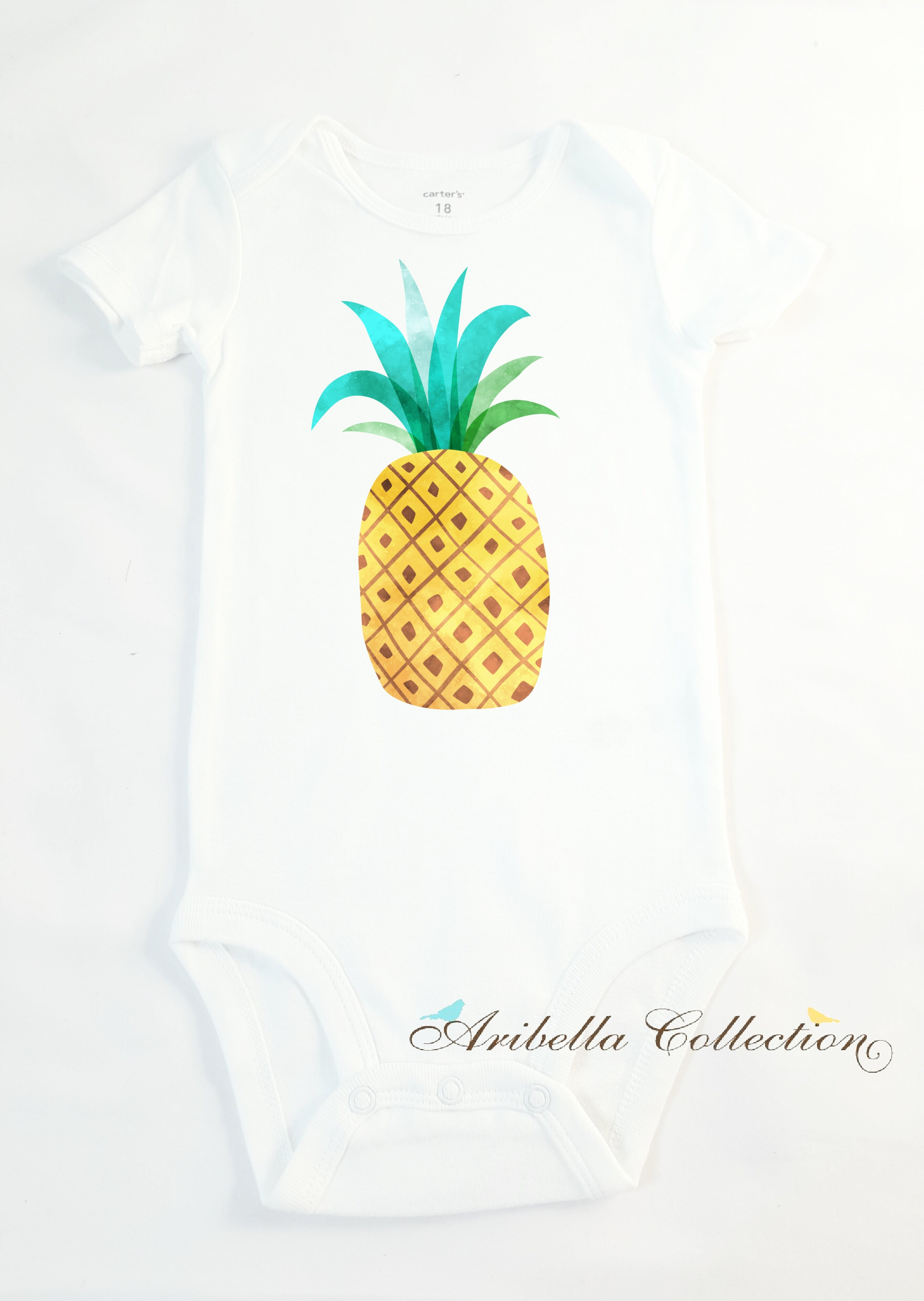 Pineapple Personalized Bodysuit or T-shirt - Aribella Collection