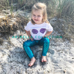 Mermaid Leggings - Aqua Blue - Aribella Collection