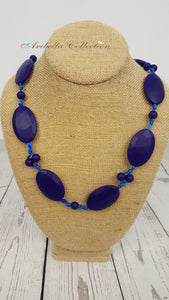 Silicone Necklace - Dark Blue - Aribella Collection