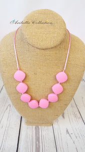 Silicone Necklace - Pink - Aribella Collection