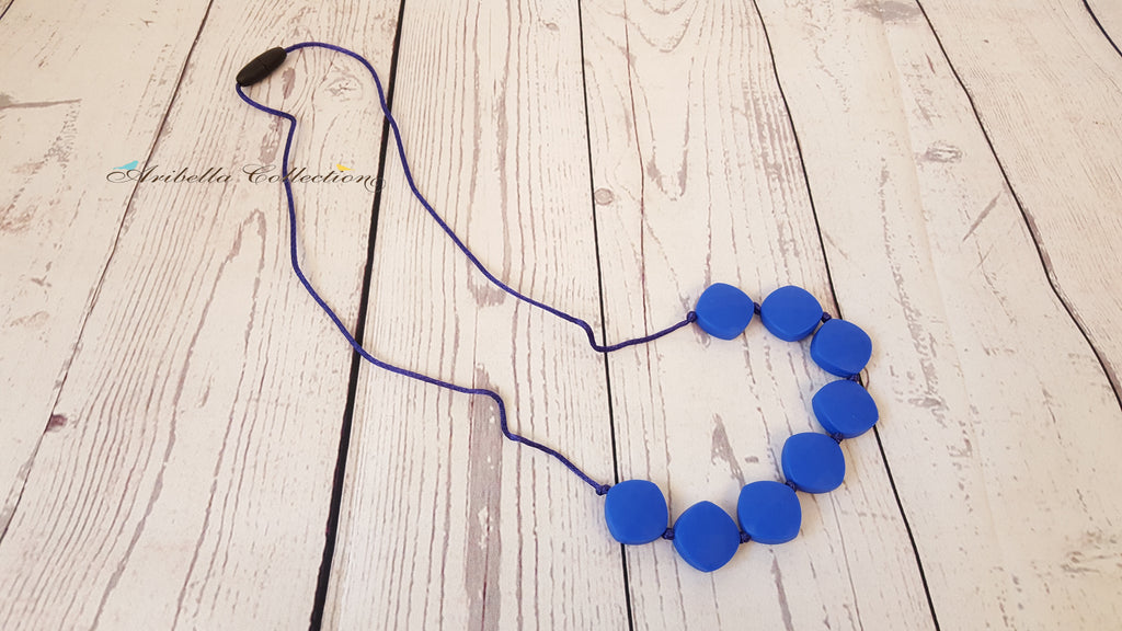 Silicone Necklace - Blue - Aribella Collection