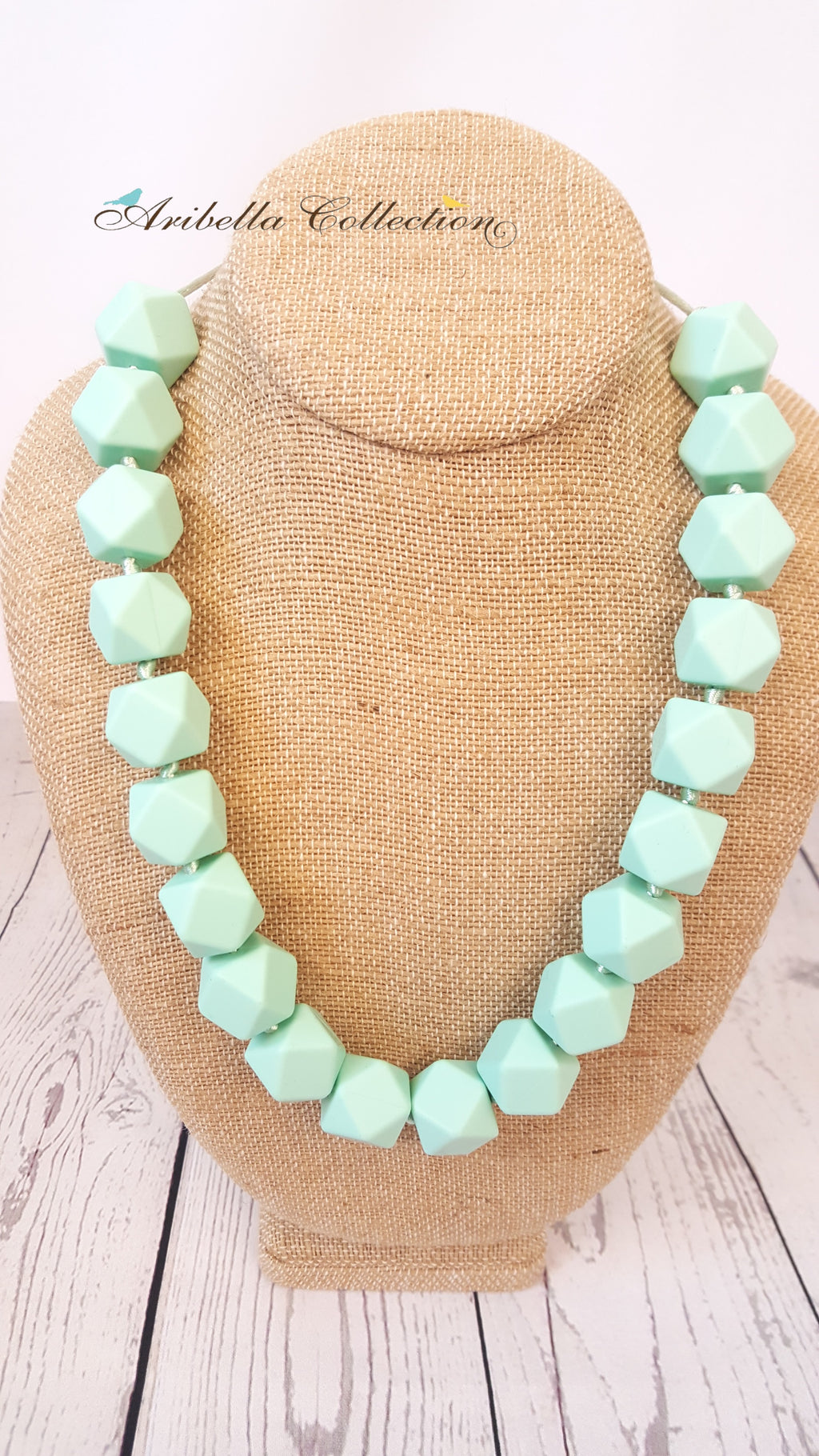 Silicone Necklace - Mint - Aribella Collection