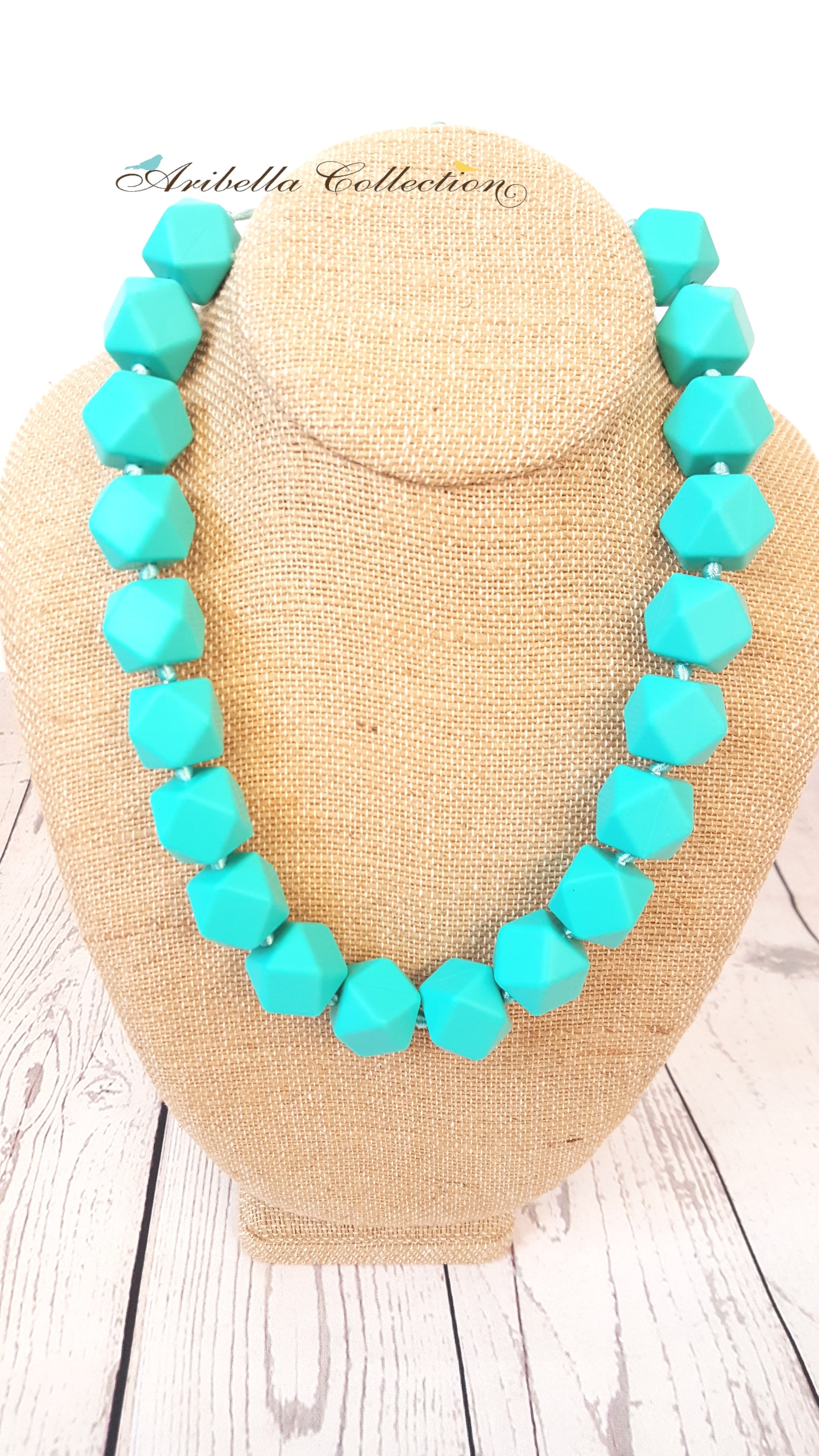 Silicone Necklace - Turquoise - Aribella Collection