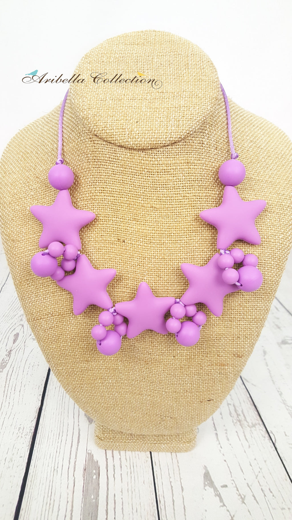 Silicone Necklace - Purple - Aribella Collection