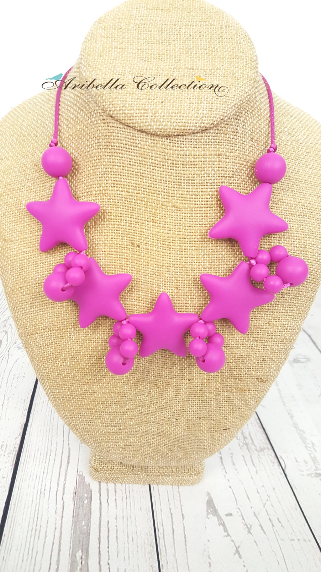 Silicone Necklace - Hot Pink - Aribella Collection