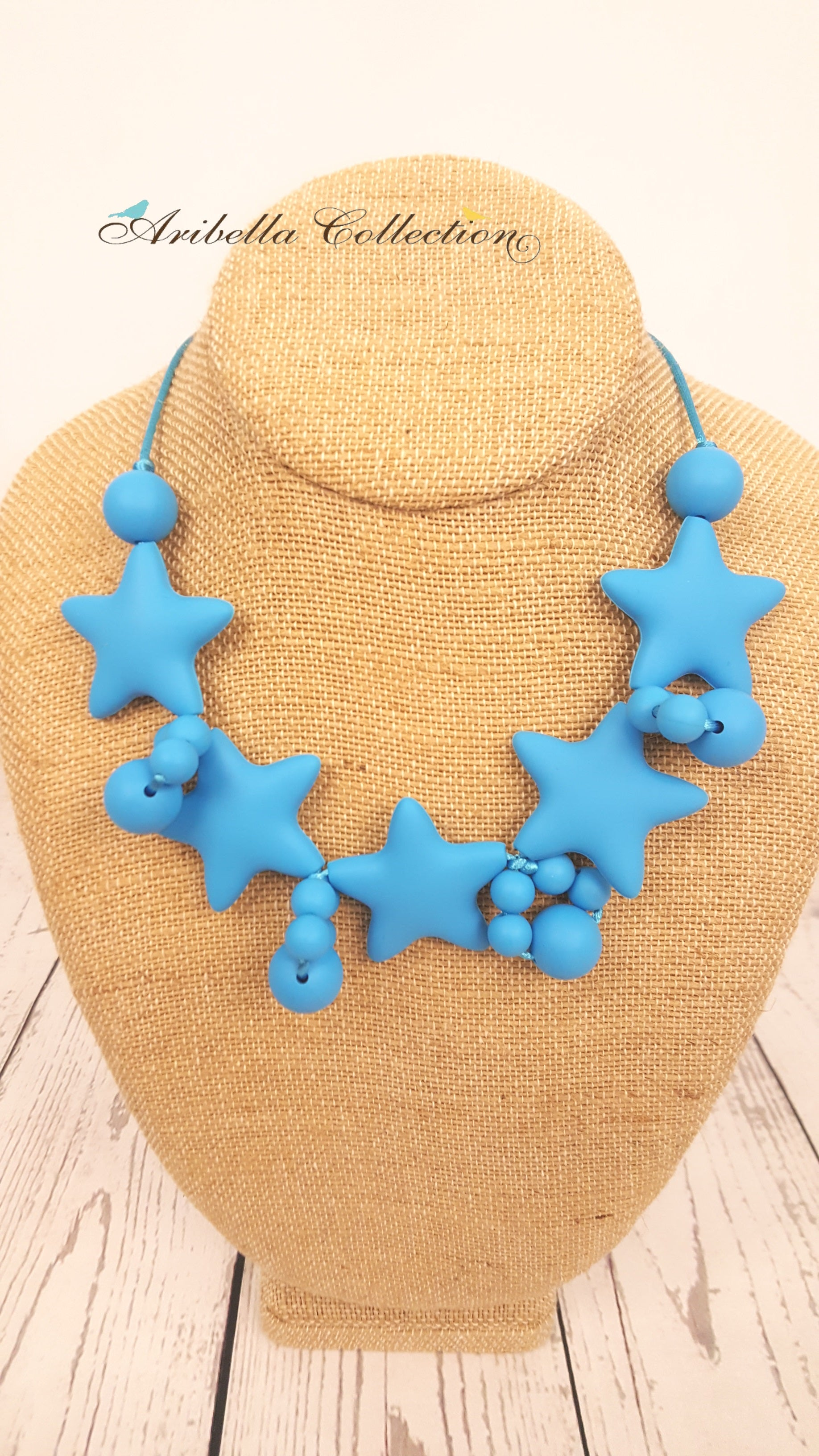 Silicone Necklace - Blue Star - Aribella Collection