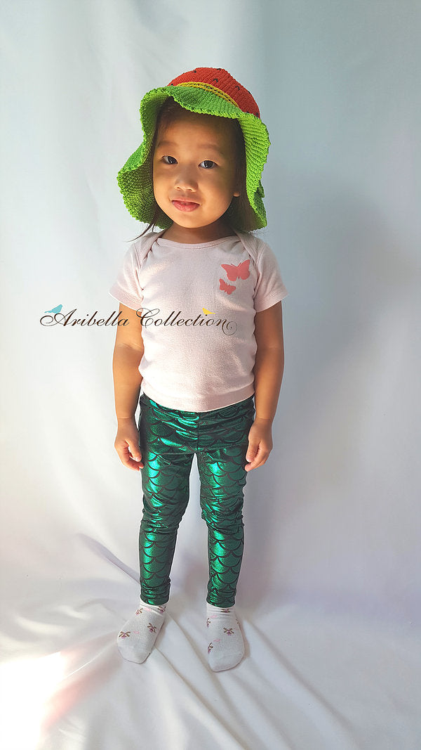 Mermaid Leggings - Green - Aribella Collection