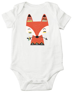 Boho Fox Arrow Personalized Bodysuit or T-shirt - Aribella Collection