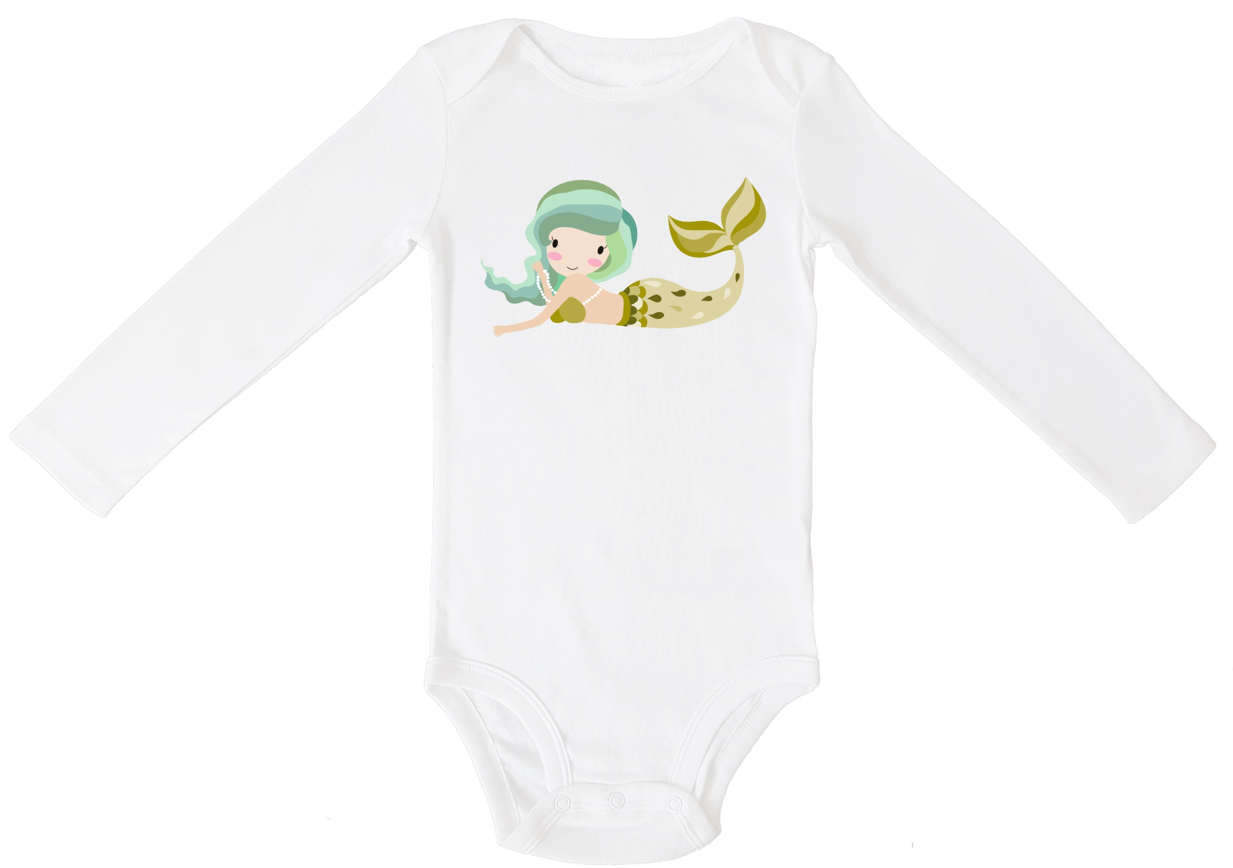Mermaid Personalized Bodysuit or T-shirt - Aribella Collection