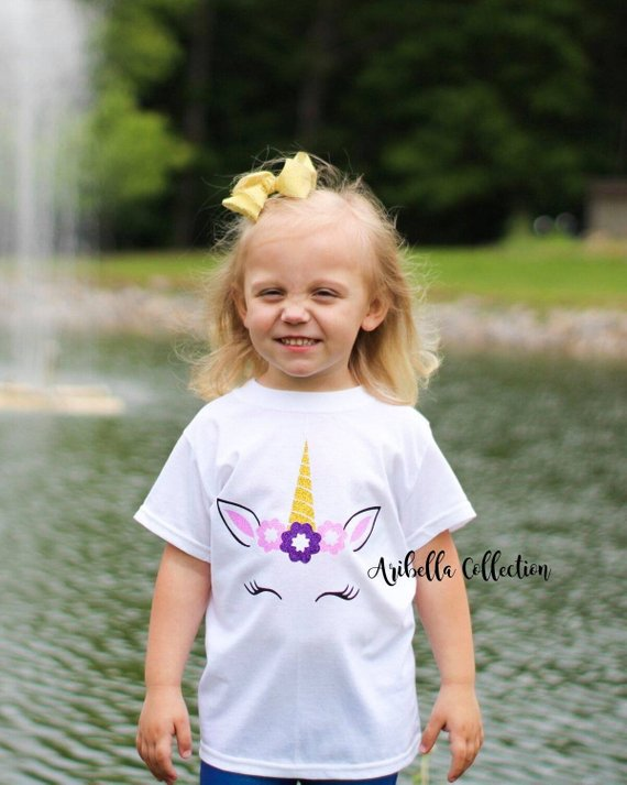 Unicorn Glitter Bodysuit or T-shirt - Aribella Collection