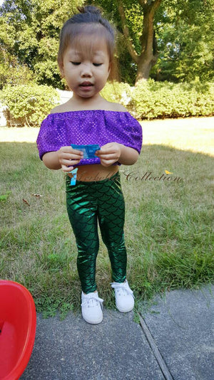 Mermaid Leggings - Green or Blue - Aribella Collection