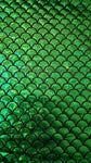 Mermaid Fish Scale Foil Print Fabric By The Yard - 2 Way Stretch - Emerald Green or Aqua Blue Color - Aribella Collection