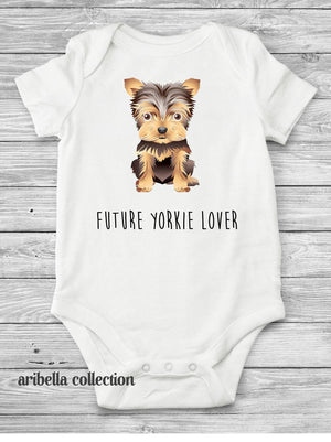Yorkshire Terrier Personalized Bodysuit or T-shirt - Aribella Collection