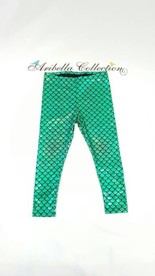 Mermaids Have More Fun Outfit - Bodysuit or T-shirt, Legging, & Bow - Aribella Collection