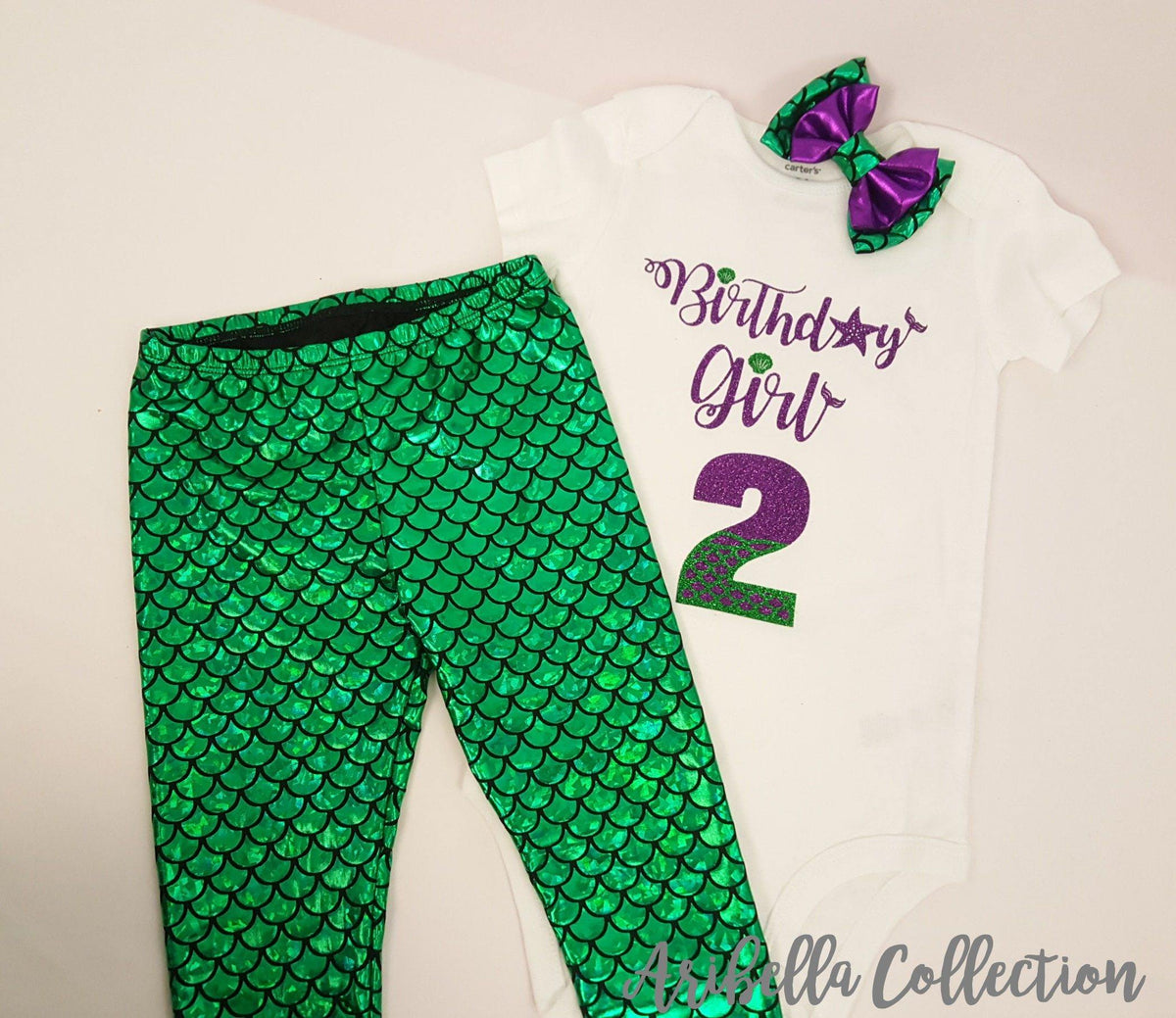 8ca83ddd212 Birthday Girl Outfit - Bodysuit or T-shirt, Legging, & Hair Clip Bow –  Aribella Collection, Inc.