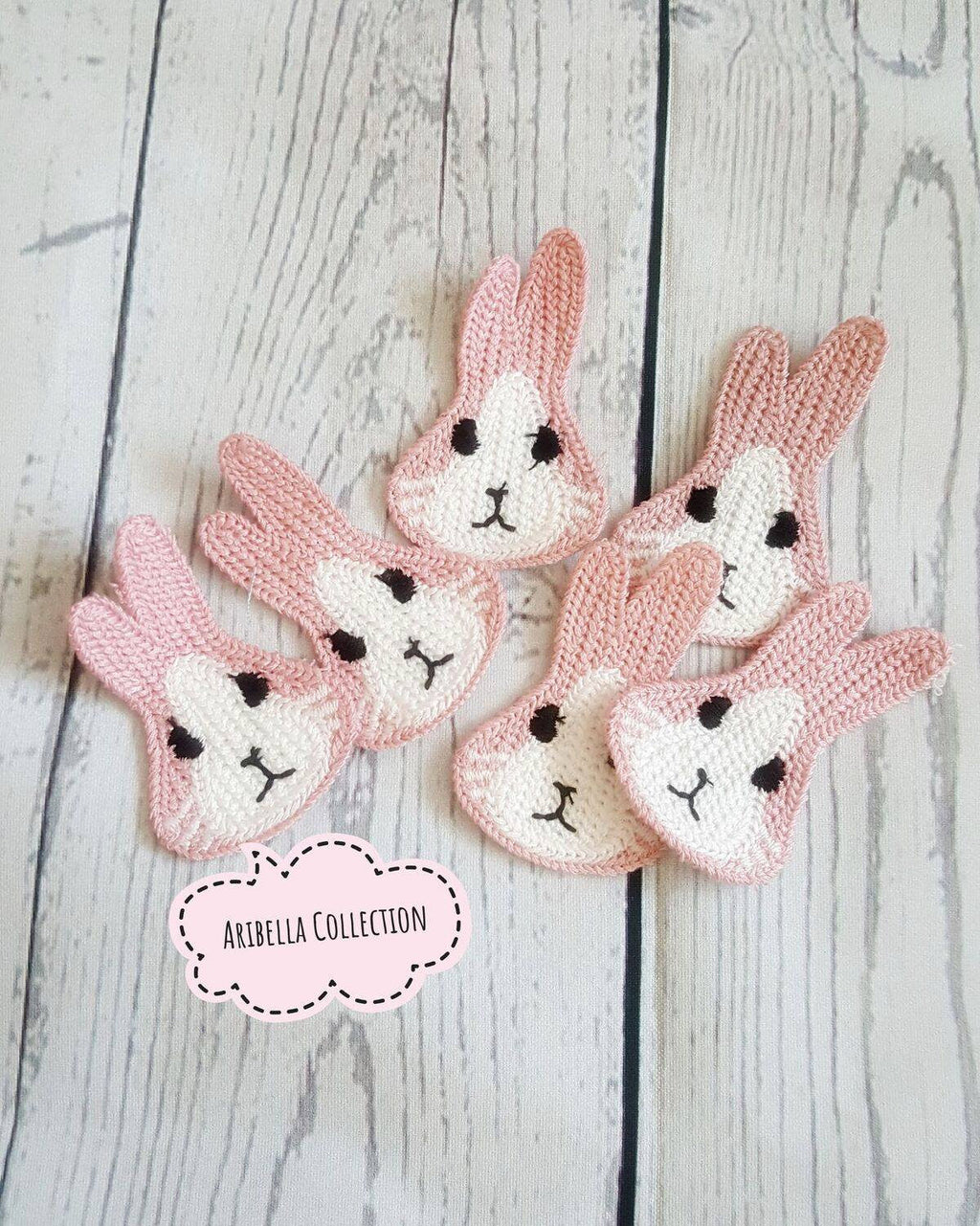 Rabbit DIY Embellishment - Pink or Gray - Aribella Collection