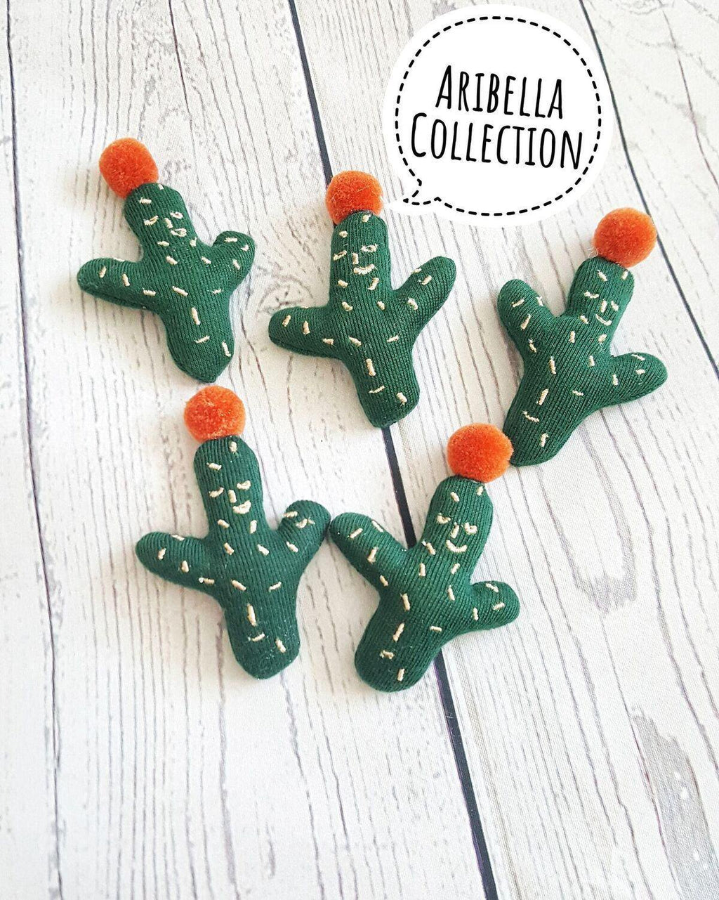 Cactus DIY Embellishment - Green or Gray - Aribella Collection