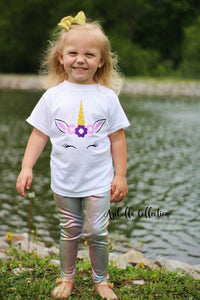 Unicorn Bodysuit or T-shirt & Multi Color Legging Outfit Set - Aribella Collection