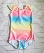 Unicorn One Piece Leotard Swimsuit - Rainbow - Aribella Collection