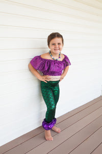 Mermaid Ruffle Leggings - Aribella Collection