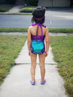 Mermaid Skirt & One Piece Swimsuit Outfit - Iridescent, Green, or Aqua - Aribella Collection