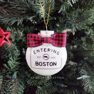 Entering Boston Ornament - Aribella Collection