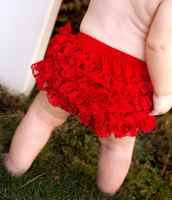 Ruffle Lace Baby Bloomer - Aribella Collection