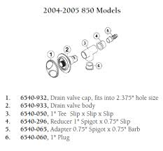 Hot Tub Parts - Sundance Spas Drain Valve Body (P/N: 6540-933)